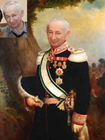 Где заказать исторический портрет по фото на холсте в Казани?