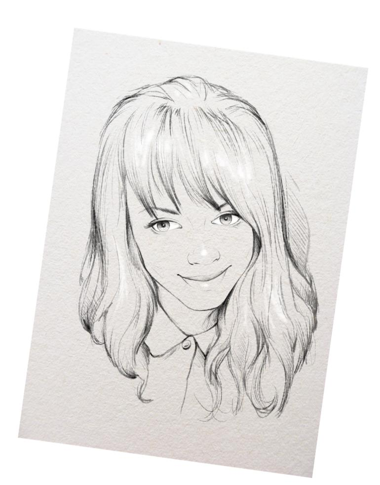 Подарок лучшей подруге — портрет карандашом