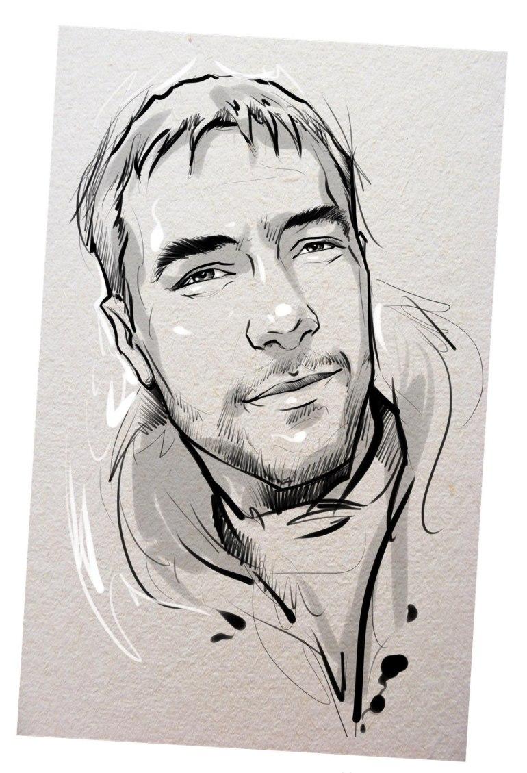 Портрет карандашом любимому мужу в Казани…