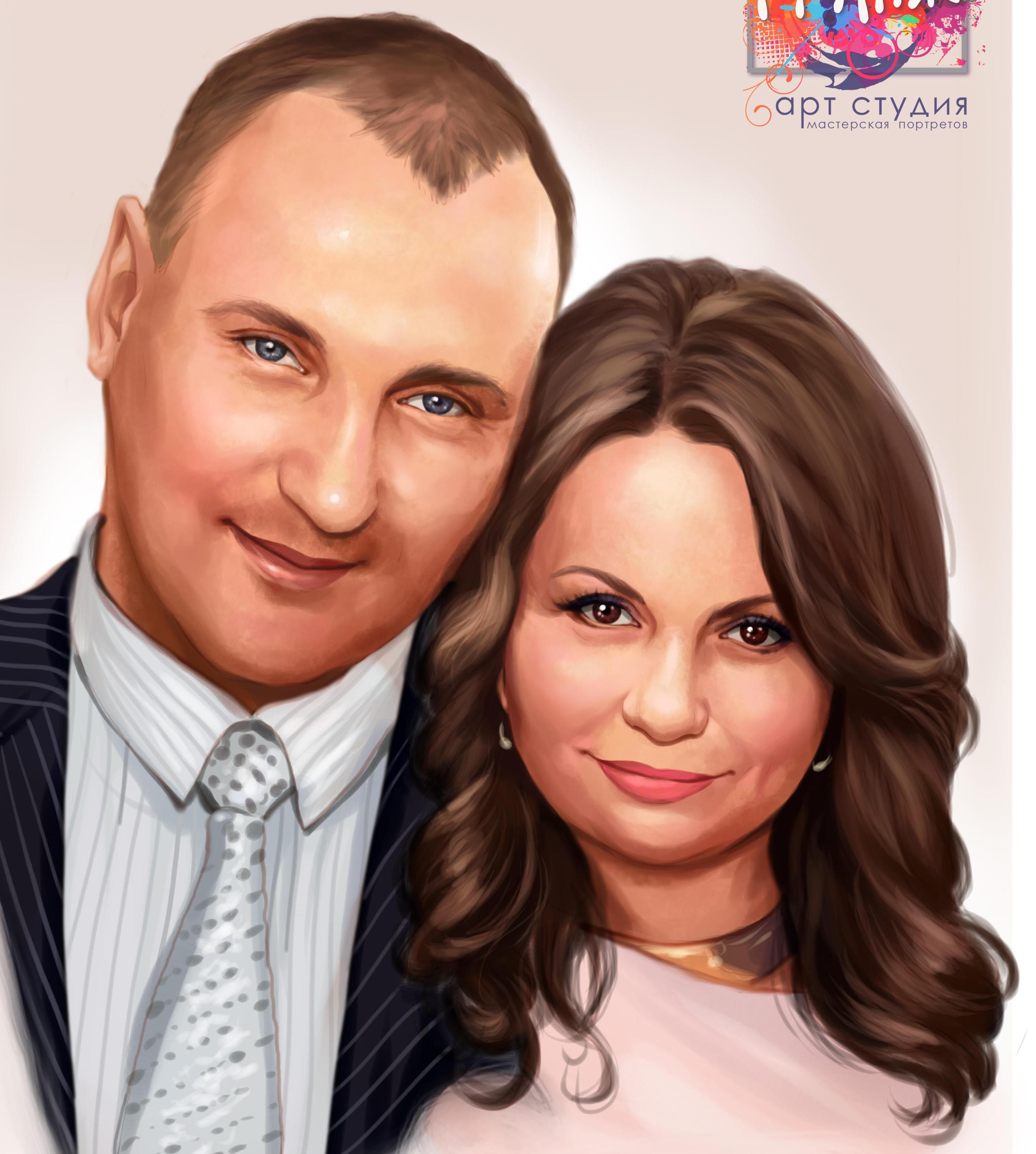 портрет на годовщину свадьбы