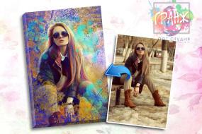Портрет по фото на заказ в честь 8 марта в Казани