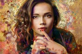 Стилизованный портрет по фото в стиле гранж на заказ Казань
