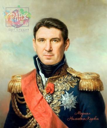 Портрет по фото на холсте в подарок мужчине на 23 февраля Казань
