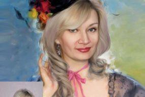 Заказать арт портрет по фото на холсте в Казани
