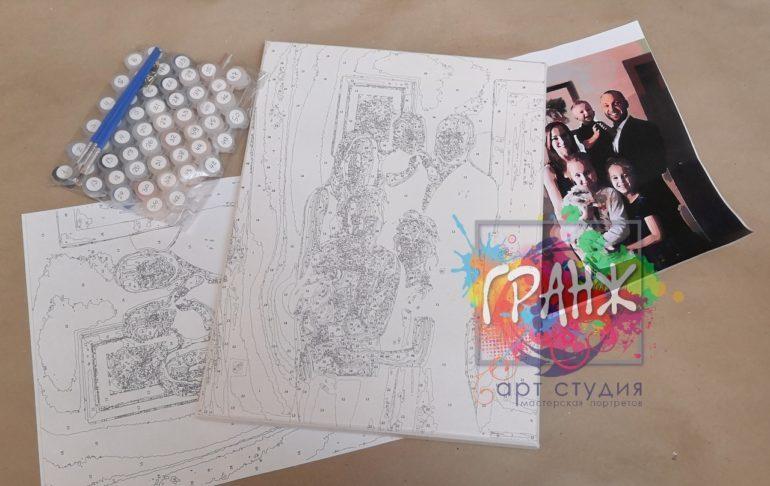 Картина по номерам по фото, портреты на холсте и дереве в Казани